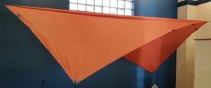orange versatile asymmetrical tarp