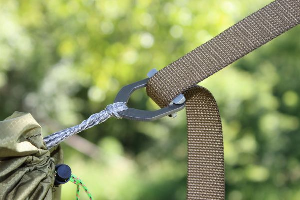Cinch Buckles for Hammock Suspension with Amsteel Loops