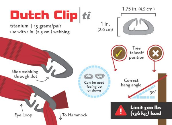 Titanium Dutch Clips (Pair)-3443