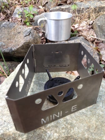 Mini-E Titanium Wood Burning Stove-3595