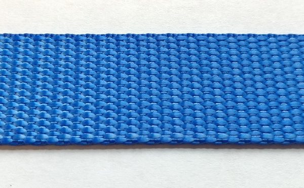 Polyester Webbing - Brilliant Blue-0