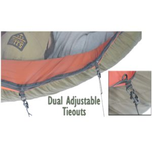 dual adjustable tieouts