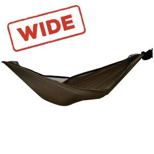 brown hammock unzipped