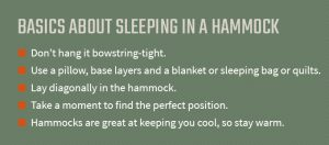 graphic about sleeping in a hammock