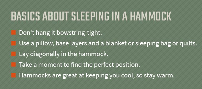 basics about sleeping in a hammock