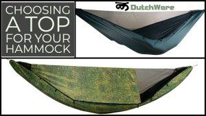 choosing a top cover hammock