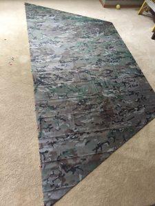 camo style tarp