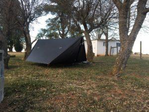 black hammock outside