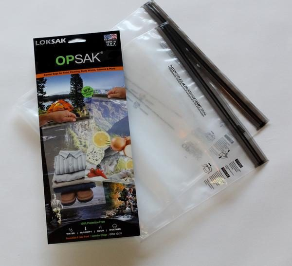 opsak food pouch with ziplock bags