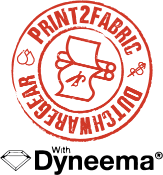 Print2fabric logo with dyneema