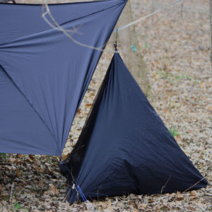 tent with dog