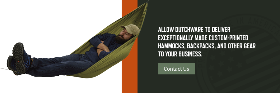 dutchware delivers exceptionally made custom-printed hammocks, backpacks and more