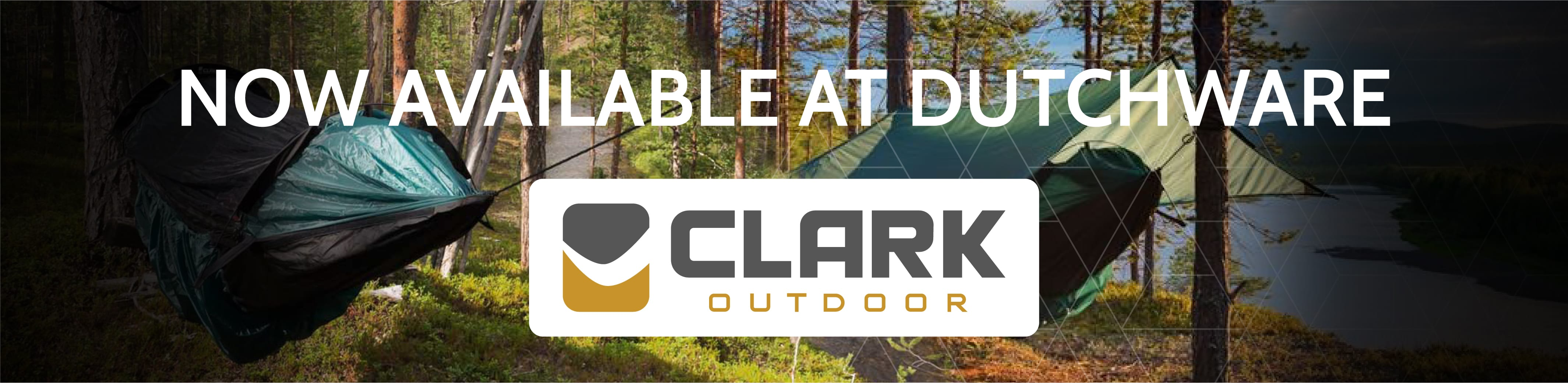 Clark hammocks are available at dutchware
