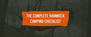 the complete hammock camping checklist graphic