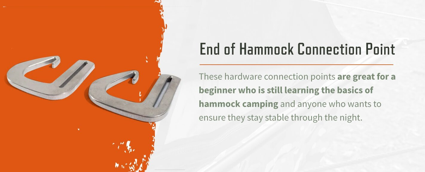 2 end of hammock connection points