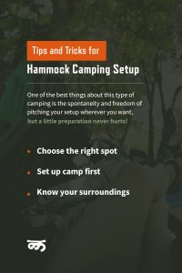 3 tips for your hammock camping set up