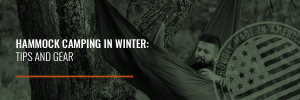 tips for hammock camping in the winter