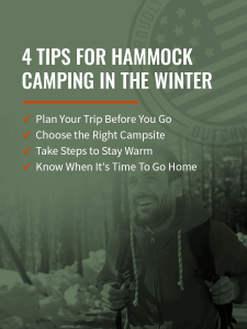 4 tips for hammock camping in the winter